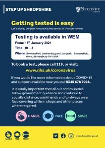 Wem testing poster