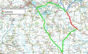 B5063 Northwood to Horton Road closure and diversion