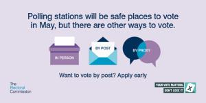 safe ways to vote poster